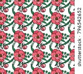 seamless flower pattern for... | Shutterstock .eps vector #796542652