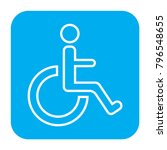 disabled people icon. disabled... | Shutterstock .eps vector #796548655