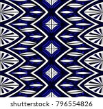 geometric folklore ornament.... | Shutterstock .eps vector #796554826