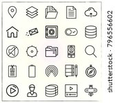 web interface line icons set... | Shutterstock .eps vector #796556602