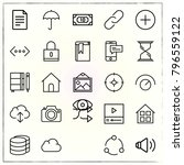 web interface line icons set... | Shutterstock .eps vector #796559122