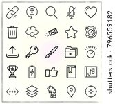 web interface line icons set... | Shutterstock .eps vector #796559182