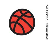 doodle basketball vector... | Shutterstock .eps vector #796561492