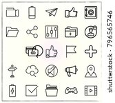 web interface line icons set... | Shutterstock .eps vector #796565746