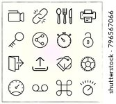 web interface line icons set... | Shutterstock .eps vector #796567066