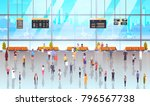 modern airport interior people... | Shutterstock .eps vector #796567738