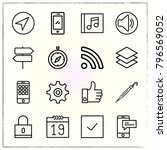 web interface line icons set... | Shutterstock .eps vector #796569052