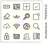 web interface line icons set... | Shutterstock .eps vector #796569112