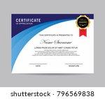 modern certificate vector | Shutterstock .eps vector #796569838