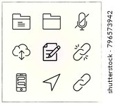 web interface line icons set... | Shutterstock .eps vector #796573942