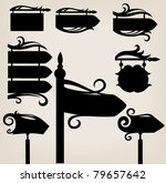 vector collection of sign and...