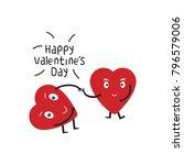 heart cartoon vector. cartoon... | Shutterstock .eps vector #796579006