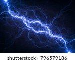 blue plasma lightning  abstract ... | Shutterstock . vector #796579186