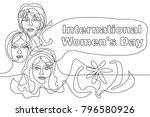 happy international women's day ... | Shutterstock .eps vector #796580926