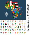 vector map of africa mixed with ... | Shutterstock .eps vector #796582045