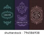 beverage packaging design. set... | Shutterstock .eps vector #796586938