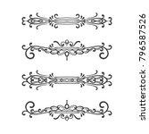 set of vintage dividers on... | Shutterstock .eps vector #796587526