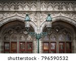 architectural details of the... | Shutterstock . vector #796590532