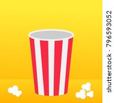 popcorn round box standing on... | Shutterstock .eps vector #796593052