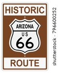 route 66 old historic traffic... | Shutterstock .eps vector #796600252