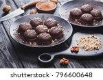 delicious fresh mini chocolate... | Shutterstock . vector #796600648
