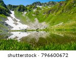 beautiful mountain lake in the...   Shutterstock . vector #796600672