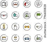 line vector icon set   tv... | Shutterstock .eps vector #796600828