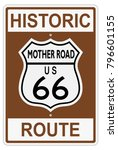 route 66 old historic traffic... | Shutterstock .eps vector #796601155