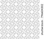 seamless ornamental vector...   Shutterstock .eps vector #796604302