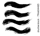 grunge ink brush strokes set.... | Shutterstock .eps vector #796604485