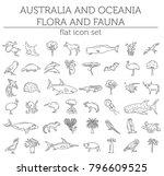 flat australia and oceania...   Shutterstock .eps vector #796609525