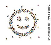 many people sign emoji on the... | Shutterstock .eps vector #796614892