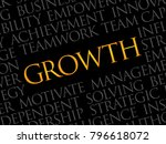 growth word cloud  business... | Shutterstock . vector #796618072