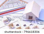 working on process house plan... | Shutterstock . vector #796618306
