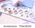 working on process house plan... | Shutterstock . vector #796618342