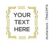 vintage decorative frame border ... | Shutterstock .eps vector #796623976