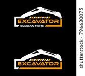 excavator vector logo template. ... | Shutterstock .eps vector #796630075