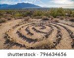 medicine wheel southwest native ... | Shutterstock . vector #796634656