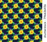 seamless floral regular order...   Shutterstock .eps vector #796636456