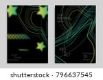 abstract banner template with... | Shutterstock .eps vector #796637545