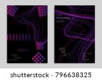 abstract banner template with... | Shutterstock .eps vector #796638325