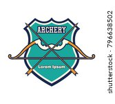 archery logo with text space... | Shutterstock .eps vector #796638502