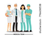 medical team and  staff  vector ...   Shutterstock .eps vector #796638538