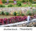 a beautiful landscaped garden...   Shutterstock . vector #796640692