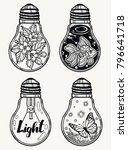 set of light bulbs. isolated... | Shutterstock .eps vector #796641718
