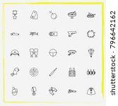 military line icon set radar ... | Shutterstock .eps vector #796642162