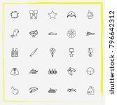 military line icon set bullet ... | Shutterstock .eps vector #796642312