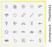 military line icon set military ... | Shutterstock .eps vector #796643662