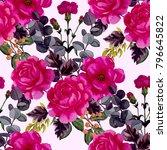watercolor seamless pattern... | Shutterstock . vector #796645822