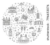 london icons set. england  thin ... | Shutterstock .eps vector #796653076